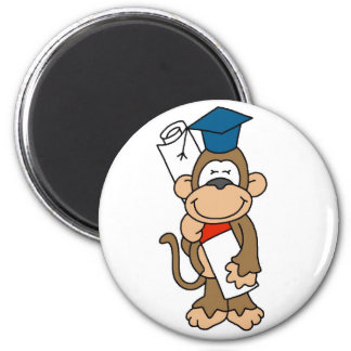Monkey Graduate Tshirts and Gifts 6 Cm Round Magnet