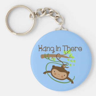 Monkey Hang in There Key Ring