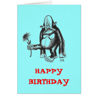 Funny Monkey Greeting Cards | Zazzle.com.au