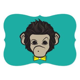 monkey identica 5x7 paper invitation card
