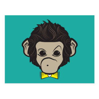 monkey identica postcard