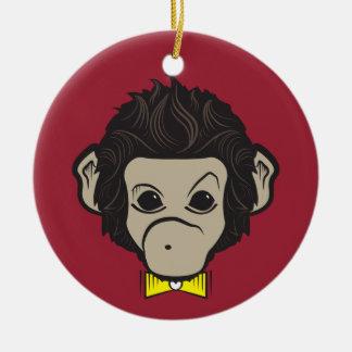 monkey identica round ceramic decoration