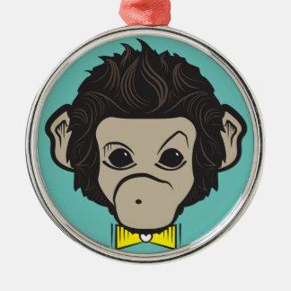 monkey identica Silver-Colored round decoration