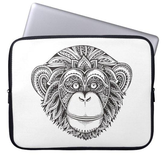 Monkey Illustartion Doodle Laptop Sleeve