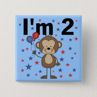 Monkey I'm 2 Tshirts and Gifts 15 Cm Square Badge