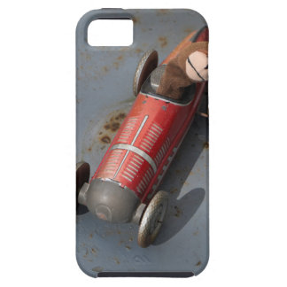Monkey in a toy car case for the iPhone 5
