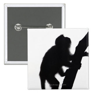 Monkey in a tree, Railay peninsula, 15 Cm Square Badge