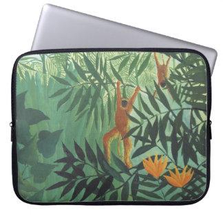 """Monkey in Jungle by Henri Rousseau 15"""" Laptop Slee Laptop Sleeve"""