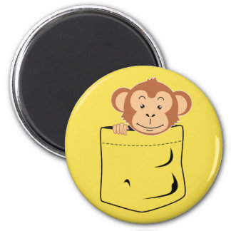 Monkey in pocket magnet