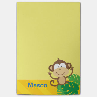 Monkey in the Jungle Personalized Post-it Notes