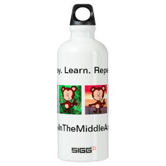 Monkey in the Middle Apps waterbottle Water Bottle