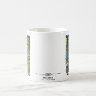 Monkey in zoo habitat basic white mug
