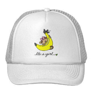 Monkey It's a Girl T-shirts and Gifts Trucker Hat