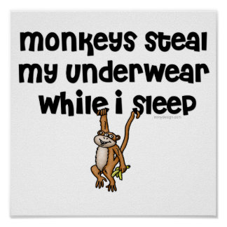 Monkey Joke Poster