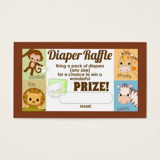 Monkey Jungle Diaper Raffle Tickets 100pk