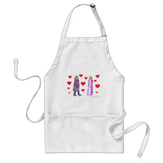 Monkey King and Queen of Hearts Standard Apron