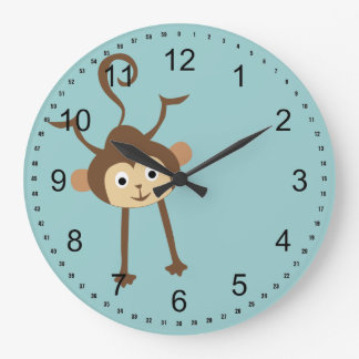 Monkey Large Clock