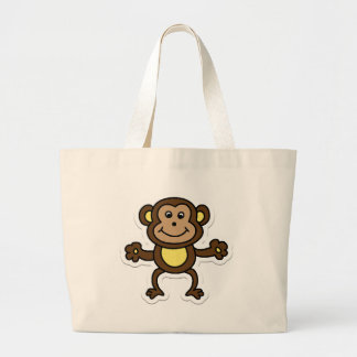 monkey large tote bag