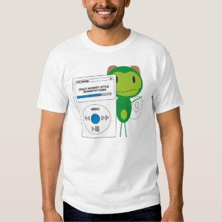 Monkey listening Ipod Tee Shirts