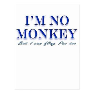 Monkey Love Fling Poo Funny Postcard