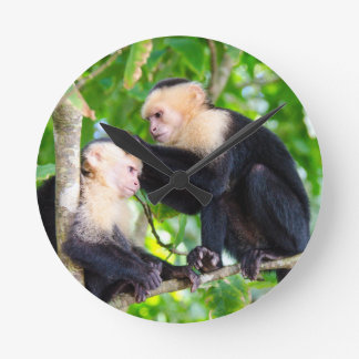 Monkey Love Round Clock