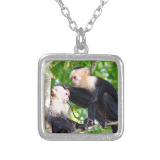 Monkey Love Silver Plated Necklace