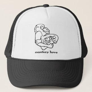 monkey love trucker hat