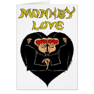 Monkey Love - You Make Me Go Bananas! Card
