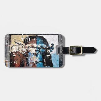 Monkey Luggage Tag w/ leather strap