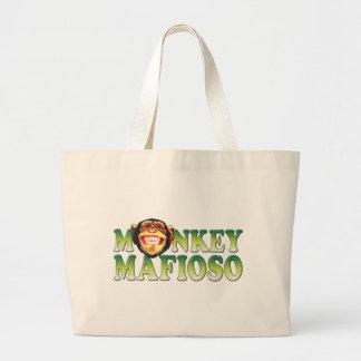 Monkey Mafioso Canvas Bags