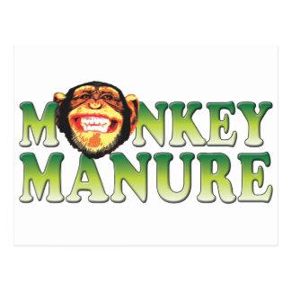 Monkey Manure Postcard