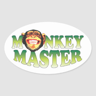 Monkey Master Oval Stickers