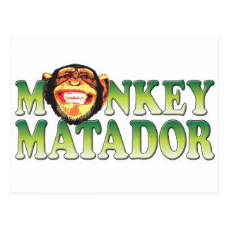 Monkey Matador Postcard