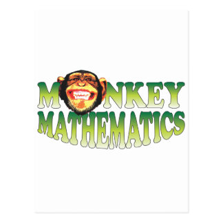 Monkey Mathematics Postcard
