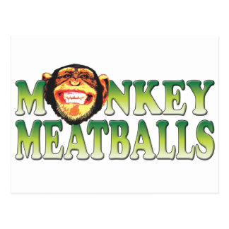 Monkey Meatballs Postcard