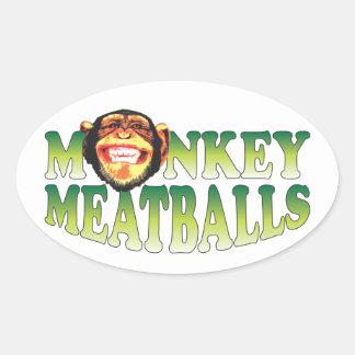Monkey Meatballs Oval Sticker