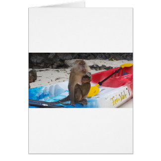 Monkey Mother & Baby Card