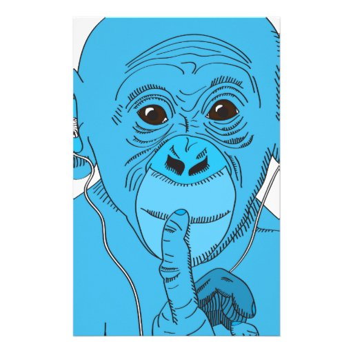Monkey Music Stationery Paper