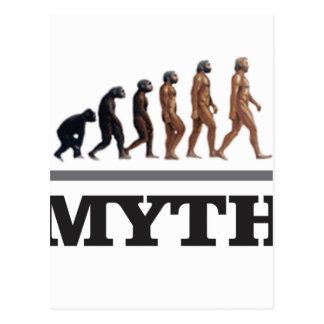 monkey myth postcard