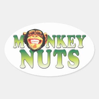 Monkey Nuts Oval Sticker