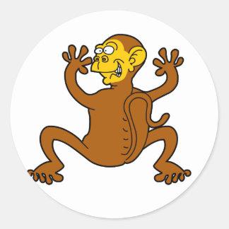 monkey off my back classic round sticker