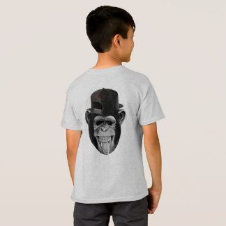 """Monkey on My Back"" Chimp in Hat T-Shirt"