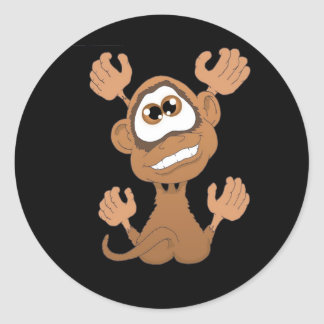 Monkey on my back classic round sticker