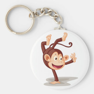 Monkey On One Hand Keychain