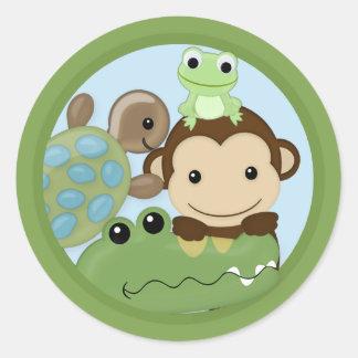 MONKEY Papagayo Baby Shower frog turtle PML-B Seal