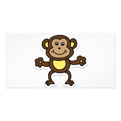 monkey personalized photo card