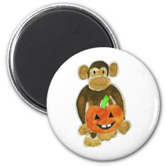 Monkey Pumpkin Magnet