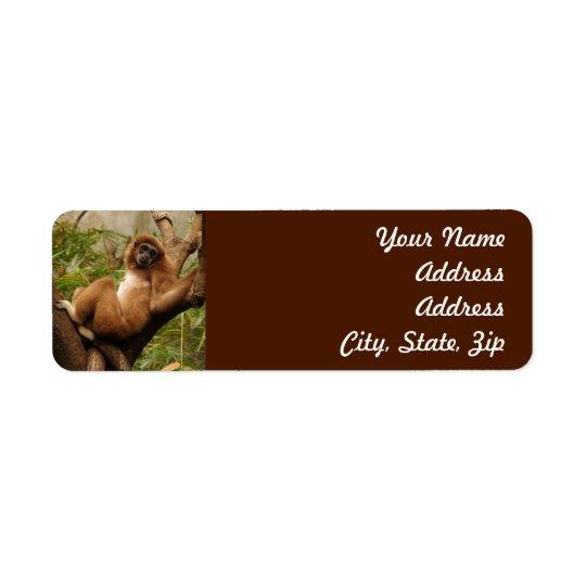 Monkey  Return Address Sticker