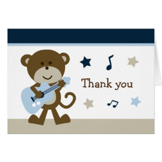 Monkey Rockstar Cute Note Cards