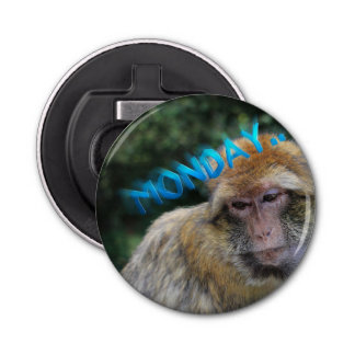 Monkey sad about monday bottle opener